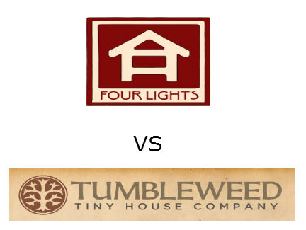 tumbleweed tiny house vs four lights