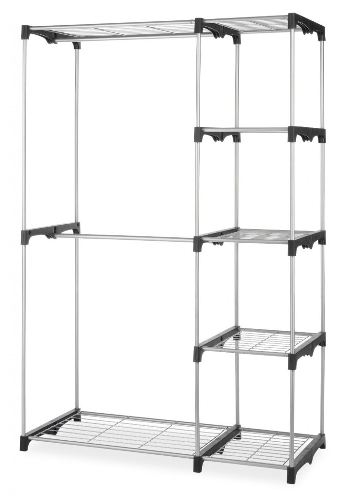 whitemor double rod closet